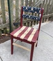 Americana Painted Wooden Chair